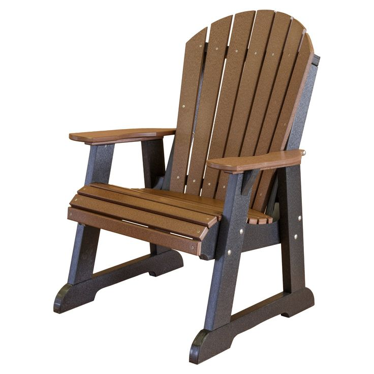 Outdoor Little Cottage Heritage High Fan Back Adirondack Chair - LCC-117-TUDOR/BLACK