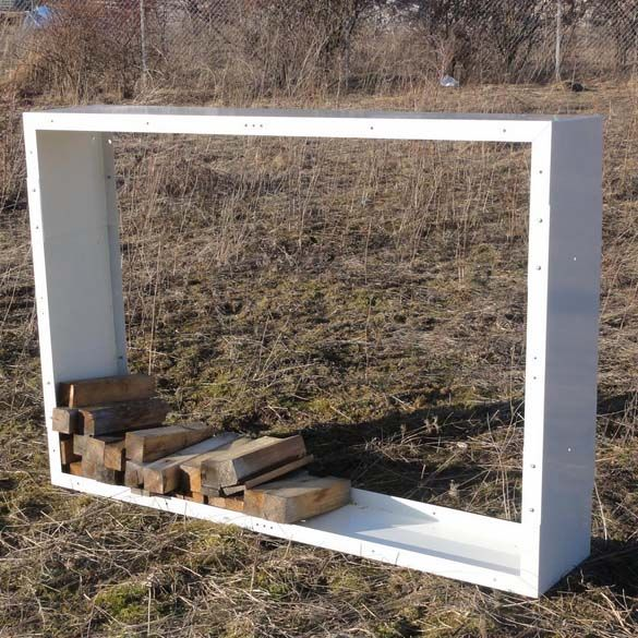 Metal firewood rack outdoor 170x60, color choice