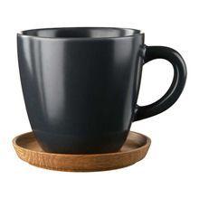 Kaffekrus med Træfade 33 cl, Grå Mat
