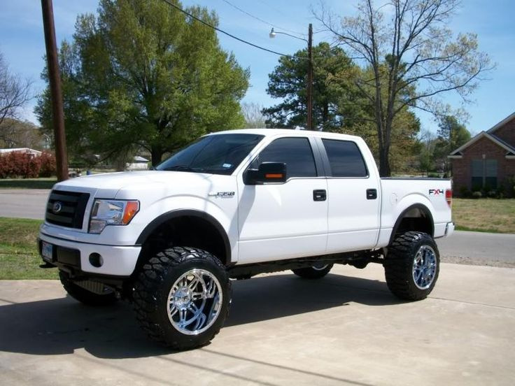 "2010 F-150 with 6"" lift on 22x14 Hostage (chrome) rims.  BOOM!"