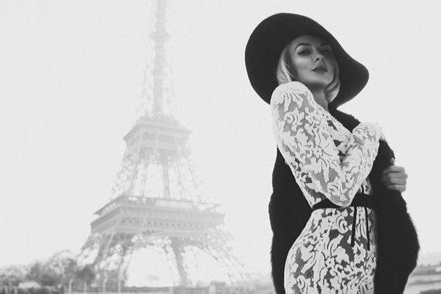 Фотограф fashion Paris эйфелева башня французский стиль мода