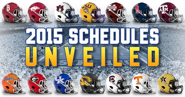 The Southeastern Conference released the 2015 football schedule this evening.