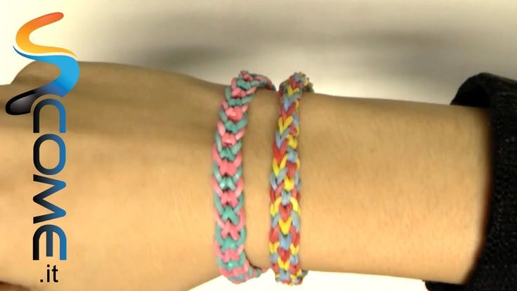 Tutorial braccialetti elastici invertiti con Rainbow loom