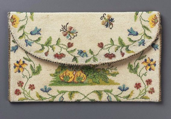 Beaded French  Pocketbook 1725-1775  @ Museum of Fine Arts in Boston