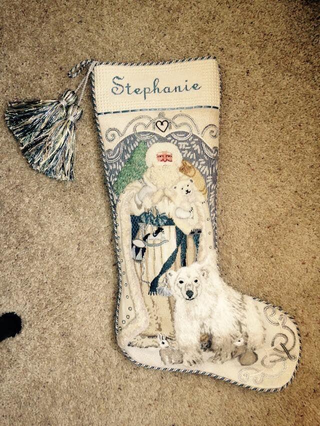 "First ""needlepoint"" stocking."