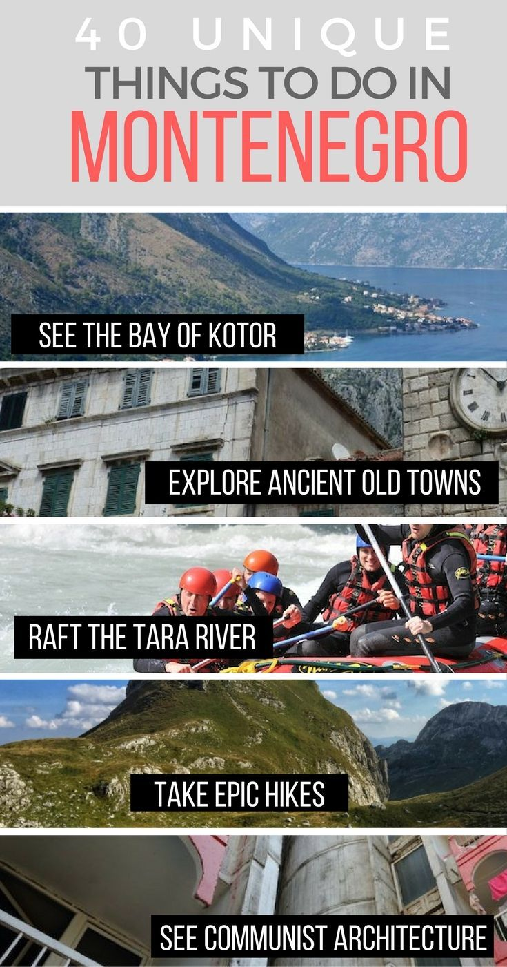 Montenegro may be one of Europe's smallest countries, but from the coastline on the Adriatic to the UNESCO old towns of Budva and Kotor to the Tara Canyon and Durmitor mountains, there's so many things to do you'll never get bored.