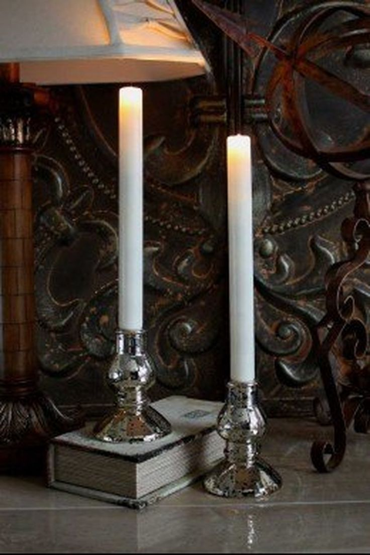 2 LED Taper Candles
