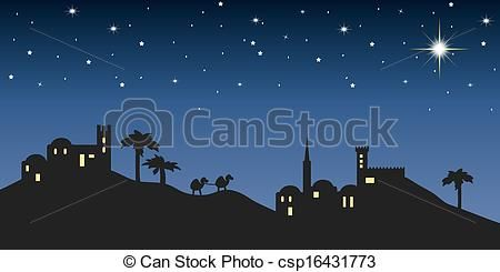 Stock Illustration - background night bethlehem - stock illustration, royalty free illustrations, stock clip art icon, stock clipart icons, logo, line art, pictures, graphic, graphics, drawing, drawings, artwork