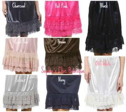 lace slip/skirt extender | womens slip skirt extenders our slip extenders are perfect for ...