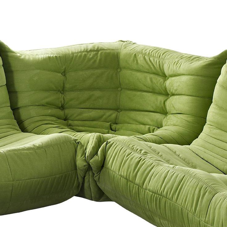 Amazon.com - LexMod Waverunner Modular Sectional: Corner in Green - Sofas