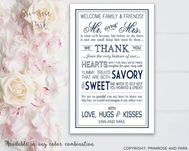 Wedding Welcome Letters Printable // Wedding by PrimroseAndPark