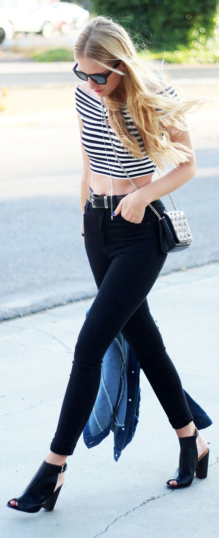 Striped Cropped Top | Top Cropped Listrado