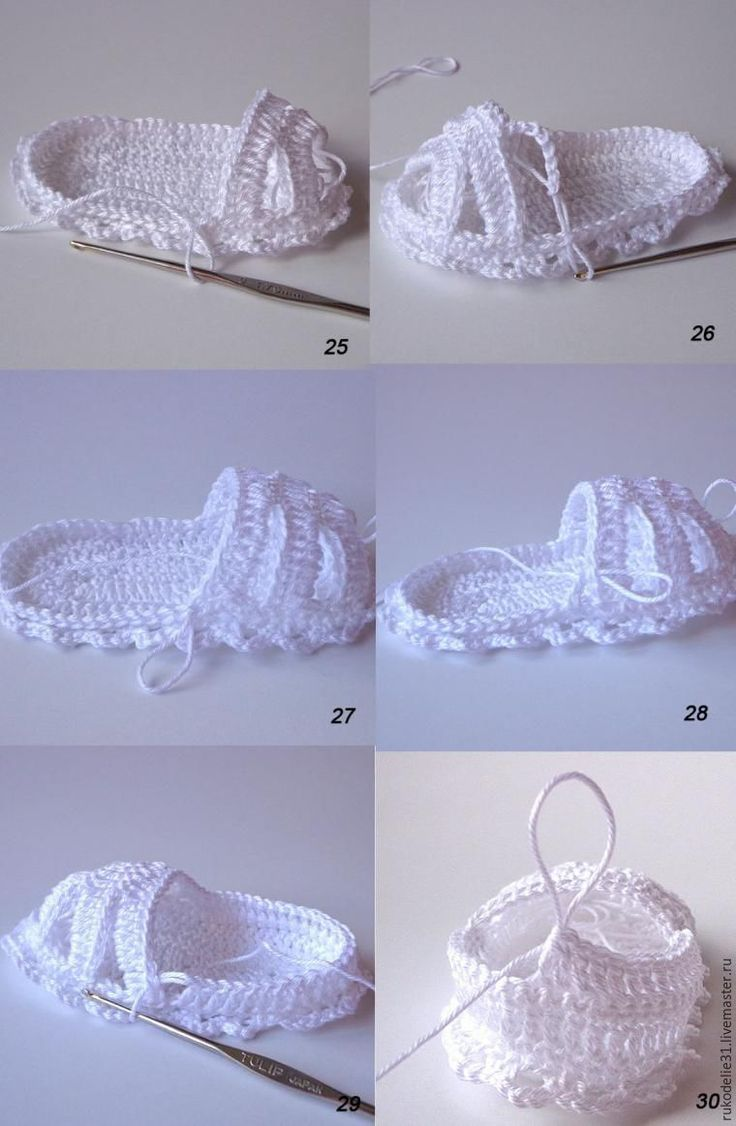 Вяжем крючком пинетки-сандалии для малышки - Ярмарка Мастеров - ручная работа, handmade [] #<br/> # #Baby #Booties,<br/> # #Handmade,<br/> # #Lily,<br/> # #Language,<br/> # #Patucos #Crochet,<br/> # #Yarn,<br/> # #Other,<br/> # #Woven #Shoes,<br/> # #More<br/>