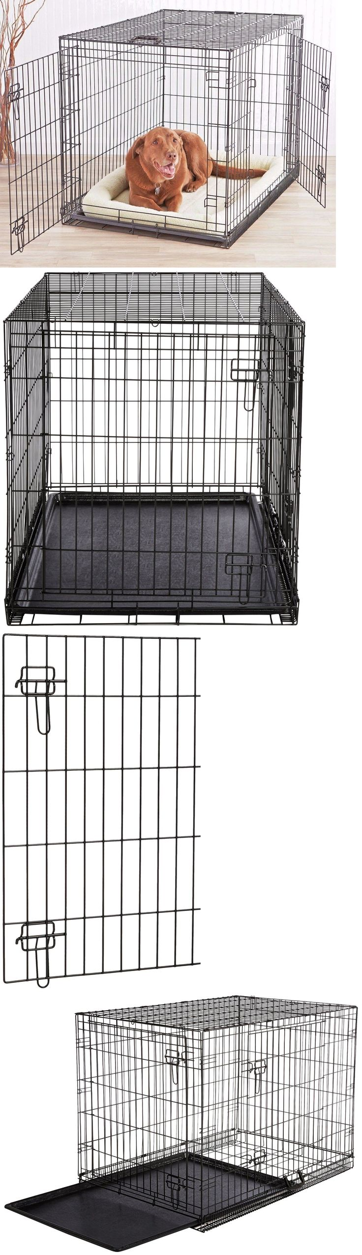 Cages and Crates 121851: Xxl Dog Crate Chain Link Dog Kennel Outdoor Pet Big Dog Cage Extra Large Metal BUY IT NOW ONLY: $79.99