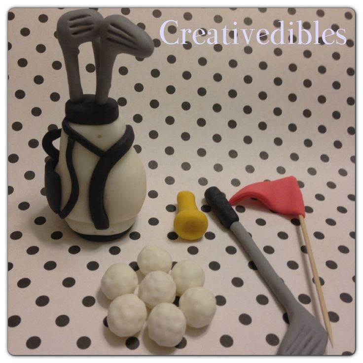 Fondant Golf Club set Cake Toppers by creativedibles on Etsy https://www.etsy.com/listing/150313640/fondant-golf-club-set-cake-toppers