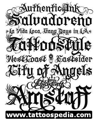 Free Tattoo Lettering Fonts   eyecatchingtattoos.