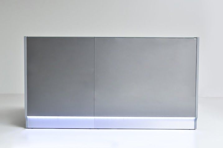 Grey Linea # reception desk One of the most most modern color in interior design and one of the most trendy reception desk.