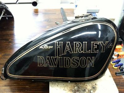 AMF-Harley-Sportster-61243-78-Anniversary-75th-GAS-TANK-DECAL-Black-w-Gold-Pair