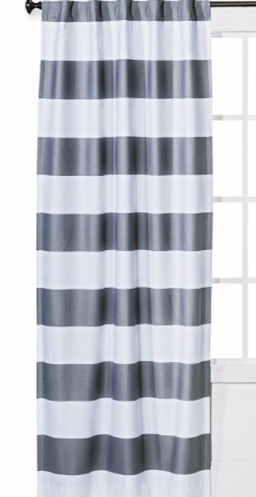 Target  Twill Light Blocking Curtain Panel Gray  Pillowfort 84L new #Pillowfort