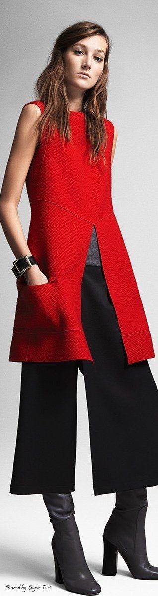 I like the tunic in lieu of a jacket or blazer--Derek Lam - Pre-Fall 2015