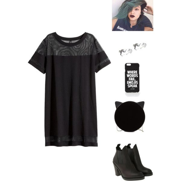 outfit II by olifantgerchia on Polyvore featuring H&M, Acne Studios, Charlotte Olympia and Jac Vanek