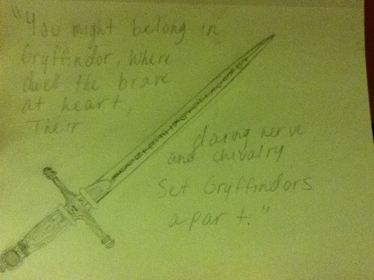 The sword of Gryffindor