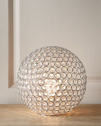"""""""Bosley"""" Crystal Ball Lamp at Horchow.Homelight Crystalballlamp, Crystals Chand, Bosley Crystals, Home Lights, Crystal Ball, Home Decor, Crystals Ball, Neiman Marcus, Ball Lamps"""