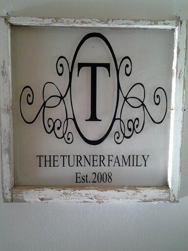 Antique Windows with Vinyl Quotes | Old window with vinyl | Crafty Things