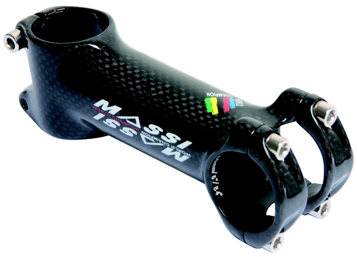 Potencia Massi World Champion Carbon Over   Medidas: 90mm, 100mm, 110mm, 120mm  Toda la gama: http://www.bikingpoint.es/componentes/potencias/potencia-massi-world-champion-carbon-over-110mm.html  #xc #crosscountry #mountainbike #mtb #components #mountainbikecomponents #cycling