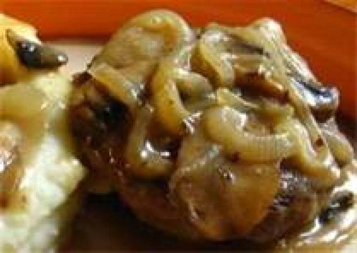 Country Salisbury Steak with Onion Gravy By Freda