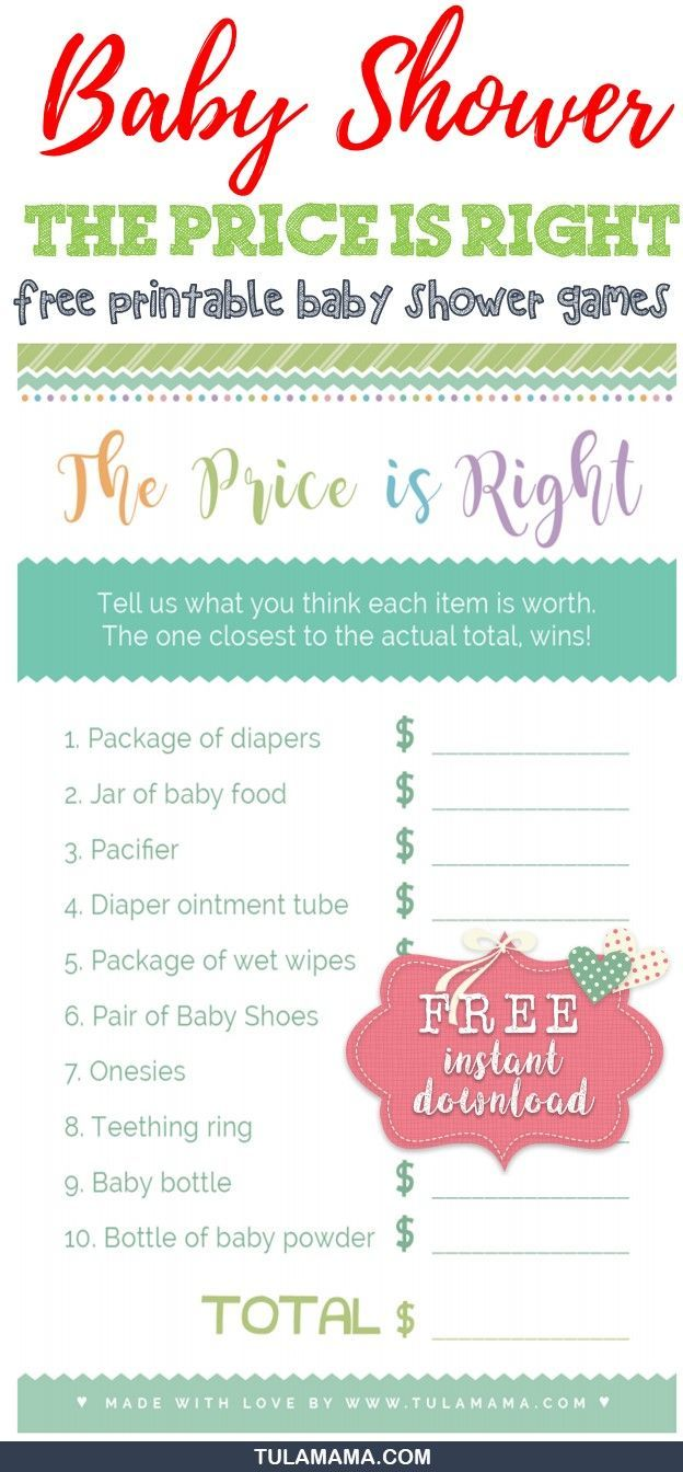 Only the easiest cutest price is right baby shower game template only the easiest cutest price is right baby shower game template baby pinterest baby shower games babyshower and gaming maxwellsz