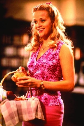 Elle Woods by Reese Witherspoon, Legally Blonde, 2001                                                                                                                                                                                 More