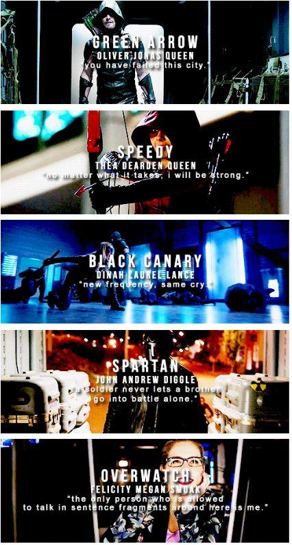 #Arrow #TeamArrow #codenames