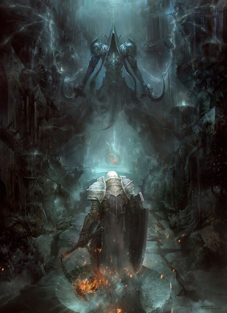 Diablo III: Reaper of Souls Fan Art Contest | Second Place: Among the dead by TheRafa.deviantart.com on @deviantART