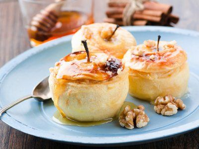 Manzana al Horno con Caramelo | Una receta muy rica y muy saludable. La manzana horneada enriquece su sabor y la salsa de caramelo que la acompaña es deliciosa.