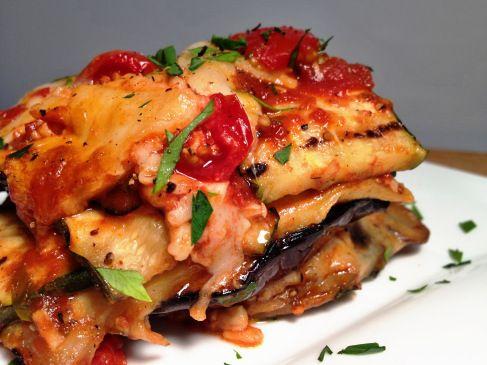No-Carb No-Pasta Grilled Garden Vegetable Lasagna with Basil Marinara
