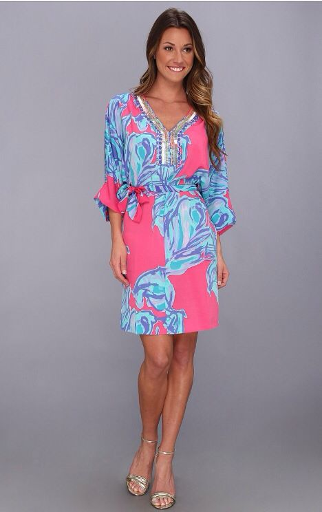 Blue Pink Gender Reveal Party Dress Lilly Pulitzer On