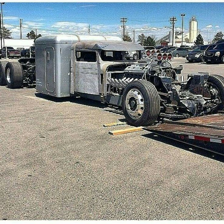 Mack Truck Rod Before And After: Lowered Rat Rod Tractor Trailer