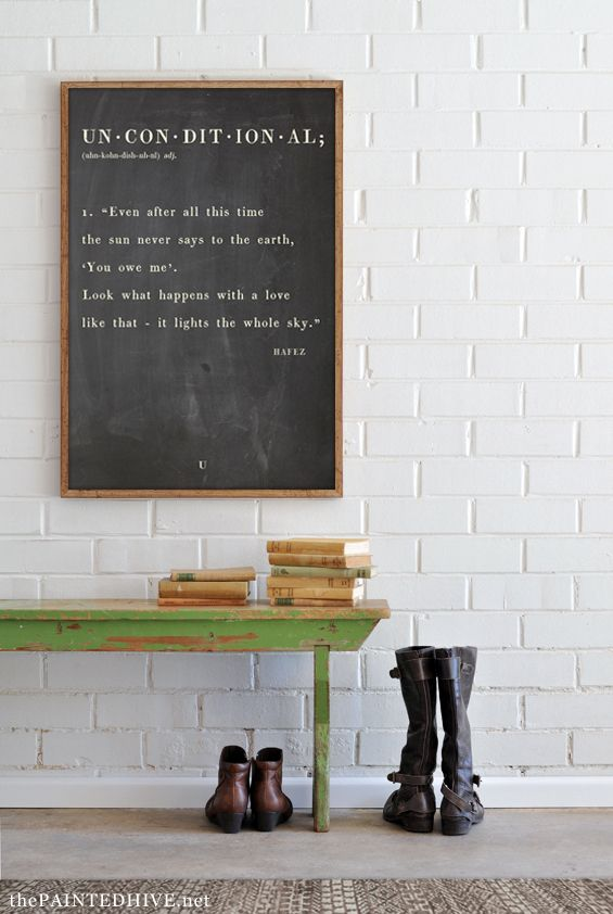Free printable dictionary definition style quote art | The Painted Hive