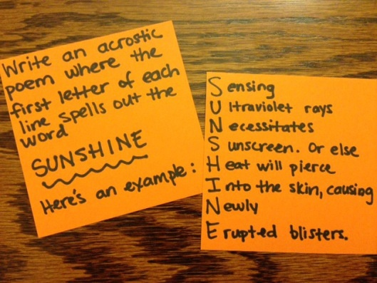 examples of acrostic poems