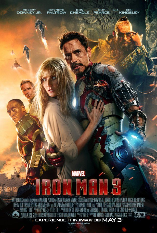 Iron Man 3 (2013) a film by Shane Black + MOVIES + Robert Downey, Jr. + Gwyneth Paltrow + Don Cheadle + Guy Pearce + Rebecca Hall + Ben Kingsley + cinema + Action + Adventure + Sci-Fi @marvelofficial