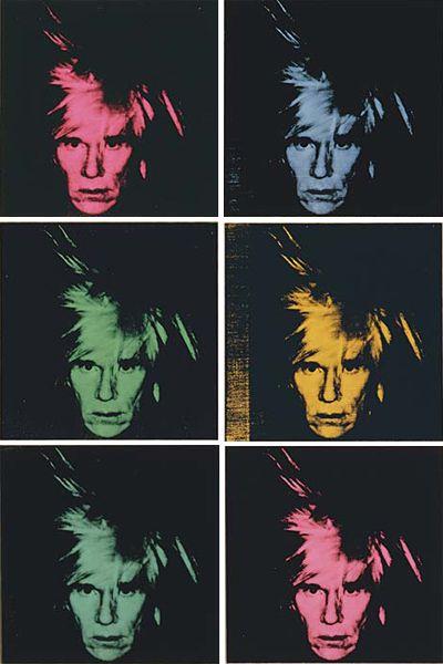ANDY WARHOL, Six Self-Portraits, 1986
