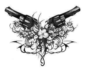Gun Tattoos For Girls (partner in crime)