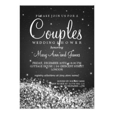 Winter Couples Wedding Shower Invitations