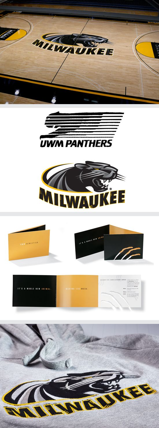 Brand Study University Of Wisconsin Milwaukee Athletics Logo Basketball Court Graphics