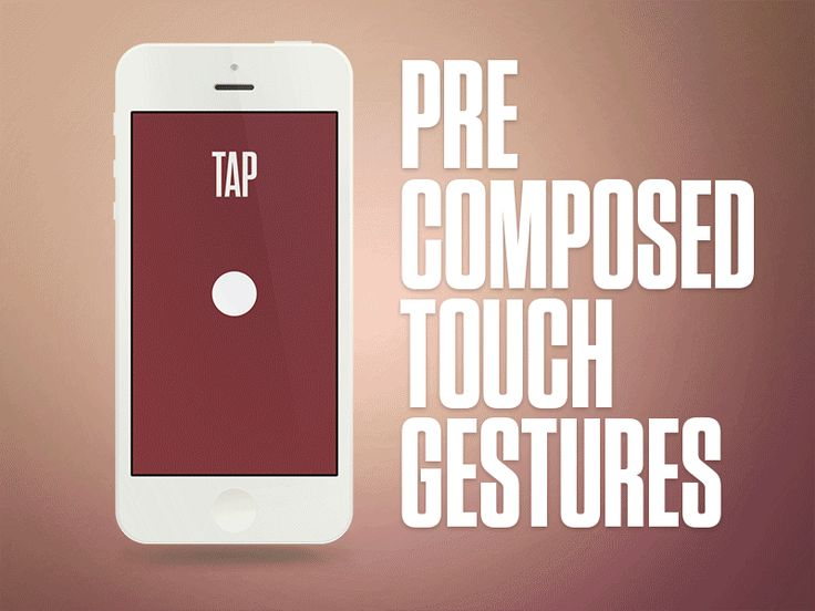 Precomposed Touch Gestures