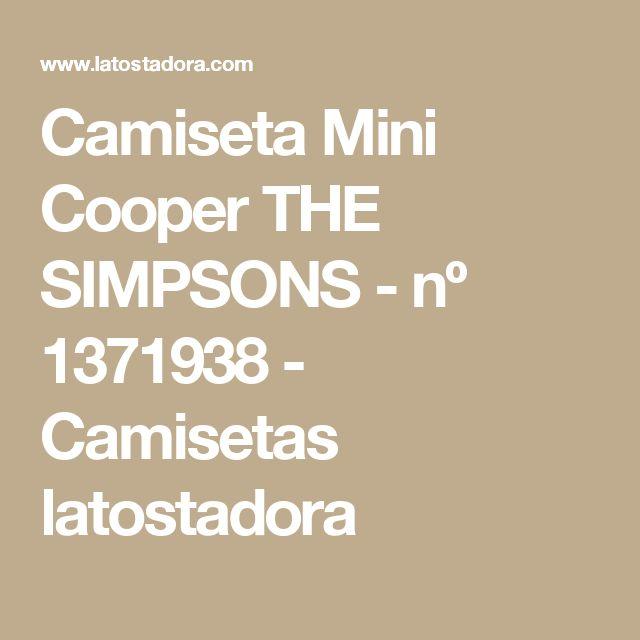 Camiseta Mini Cooper THE SIMPSONS - nº 1371938 - Camisetas latostadora