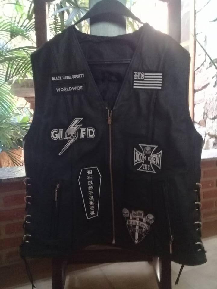 Black Label Society Cow Leather Vest Metalgods Motorcyclevest Black Label Society Black Label Leather Vest