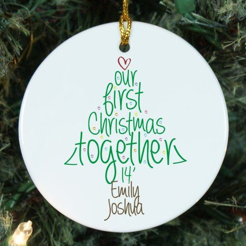 Personalized Ceramic First Christmas Ornament | Couple's First Christmas Ornament