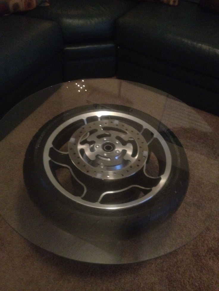 Man Cave On Wheels : Harley wheel table for the man cave home